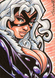 Black Cat sketch card 2 by Axebone