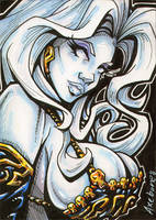 Lady Death sketch card commish by Axebone