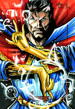 Dr. Strange for the Avengers trading card set
