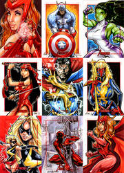Marvel Avengers sketch cards