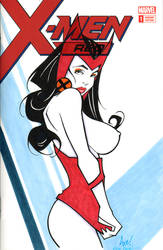 Scarlet Witch Nagel Tribute! by Axebone