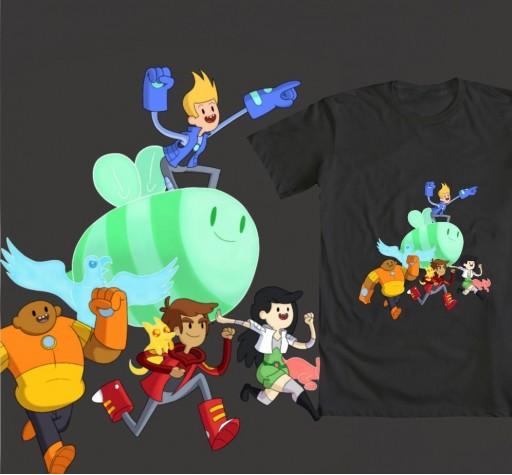 Bravest Warriors Tshirt (VOTE!) by BoukenRed