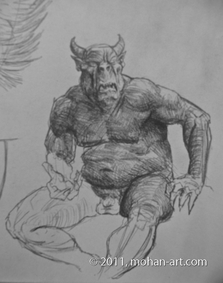 A Study of the Gargoyle & Human