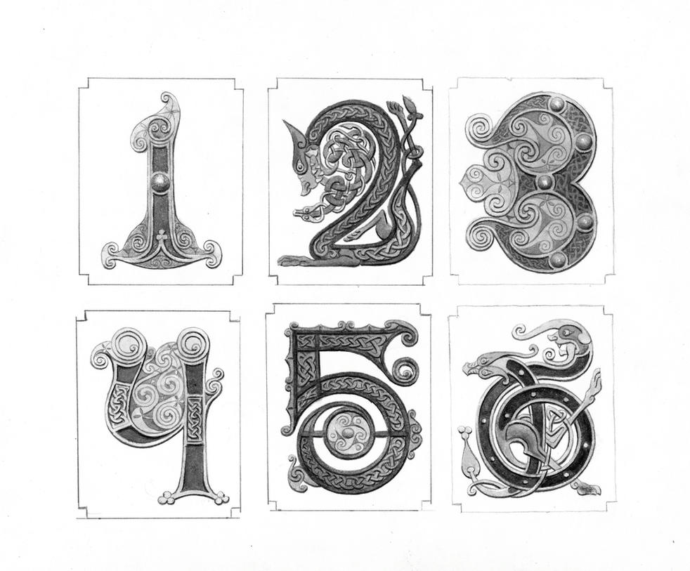 Chapter Numbers by TurnerMohan on DeviantArt