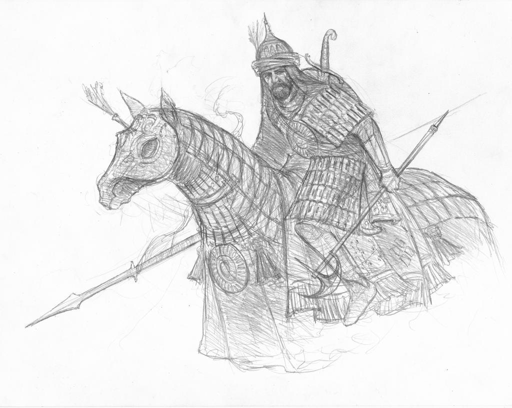 Haradrim cavalryman by TurnerMohan