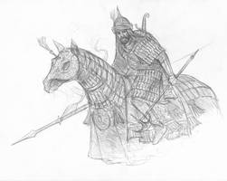 Haradrim cavalryman by TurnerMohan