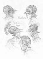 Numenorean helmets by TurnerMohan