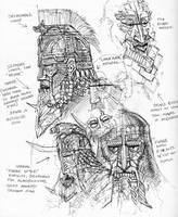 Dwarf War Masks by TurnerMohan