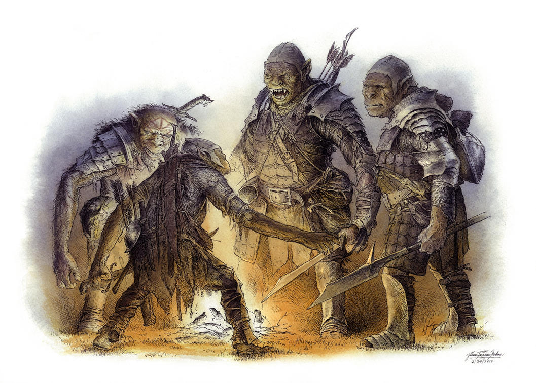 Orcs Debate, Color by TurnerMohan