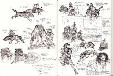 Goblins And Wargs studies by TurnerMohan