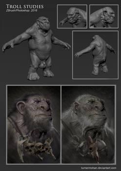 Troll Studies (zbrush)