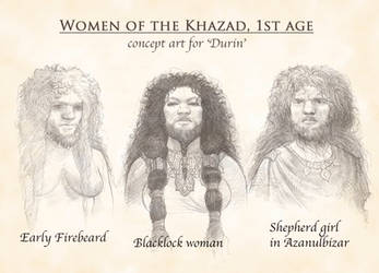Dwarven women by TurnerMohan