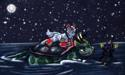 Selpie Riding [Treasure at sea prompt]