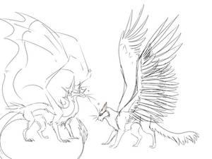 Winged cat friends