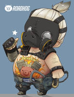 Roadhog (Overwatch) Commission by PURRMAIDEN