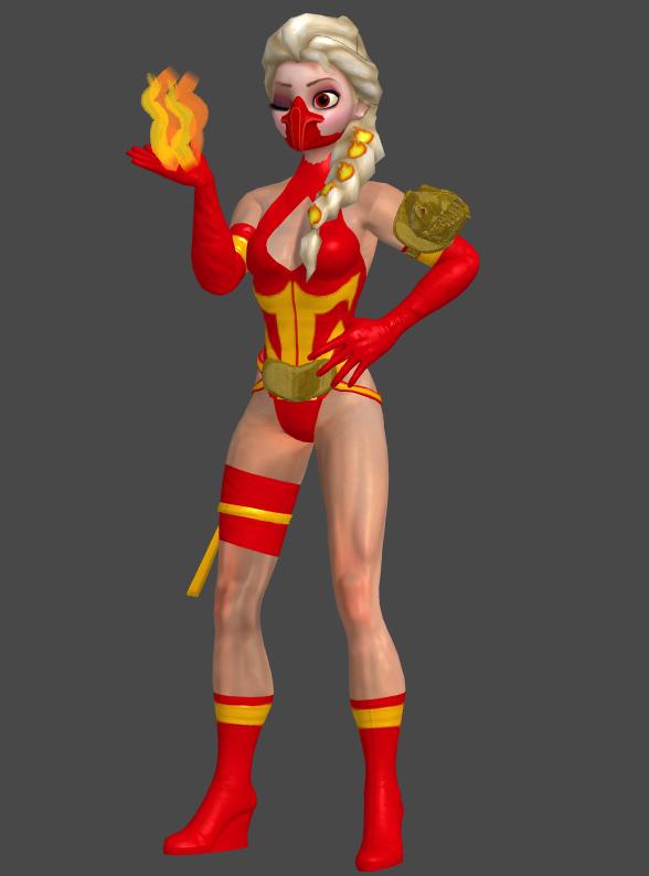 F'Elsa Ninja Outfit by AppokalipsSurvivor