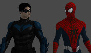 Nightwing and Spider-Man by TexPool