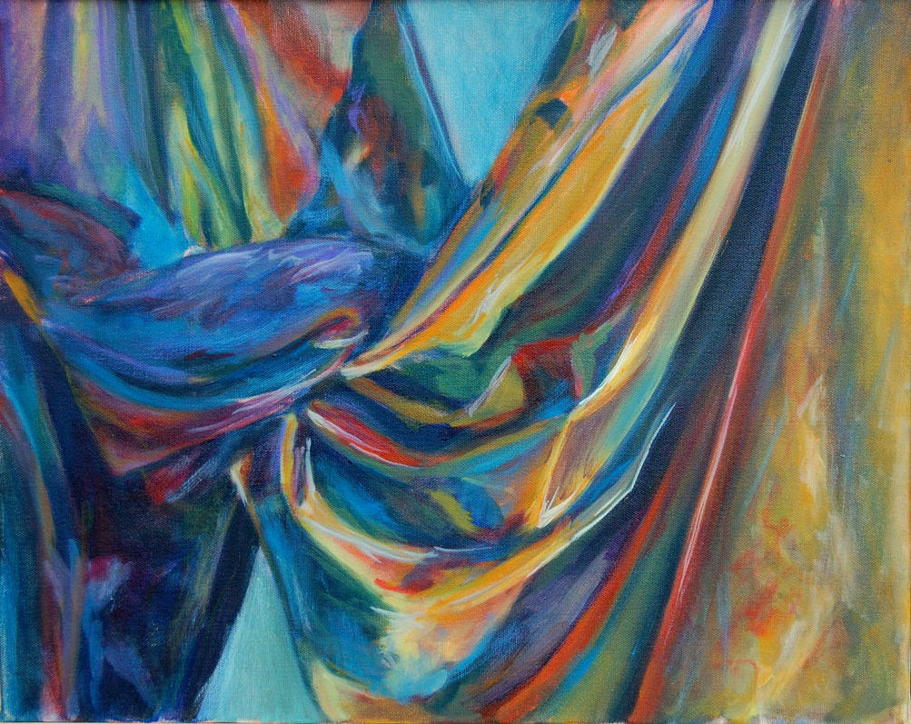 DRAPED CURTAIN DRAWINGS AND PAINTINGS | Curtain Design