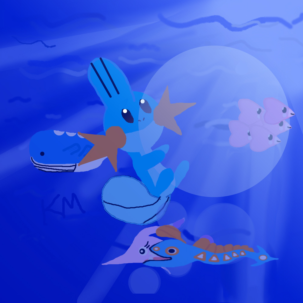 Underwater Pokemon by Moralezk on DeviantArt