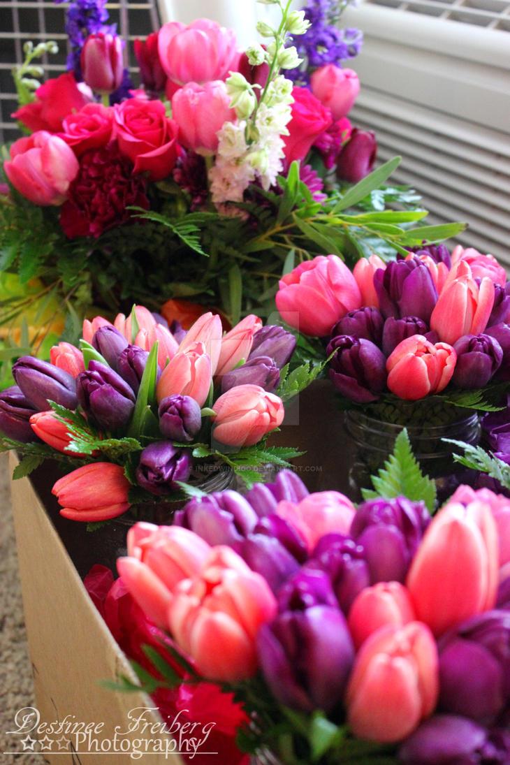 Spring Bouquets by inkedwindigo