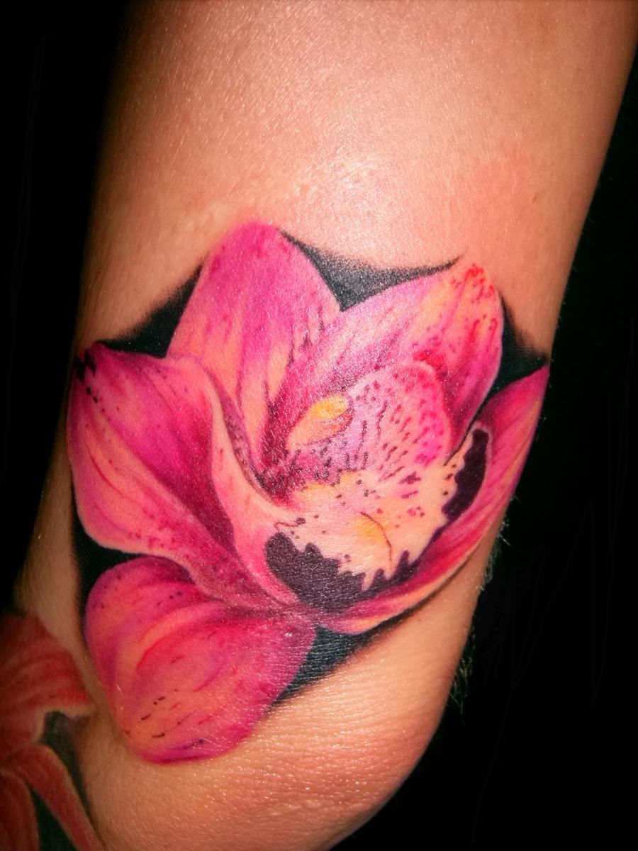 Wild Flower Tattoo by hatefulss