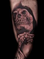 Reaper tattoo praying by hatefulss