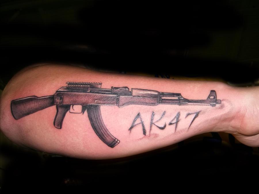 Ak47 tattoo by hatefulss on deviantart for Ak 47 tattoo