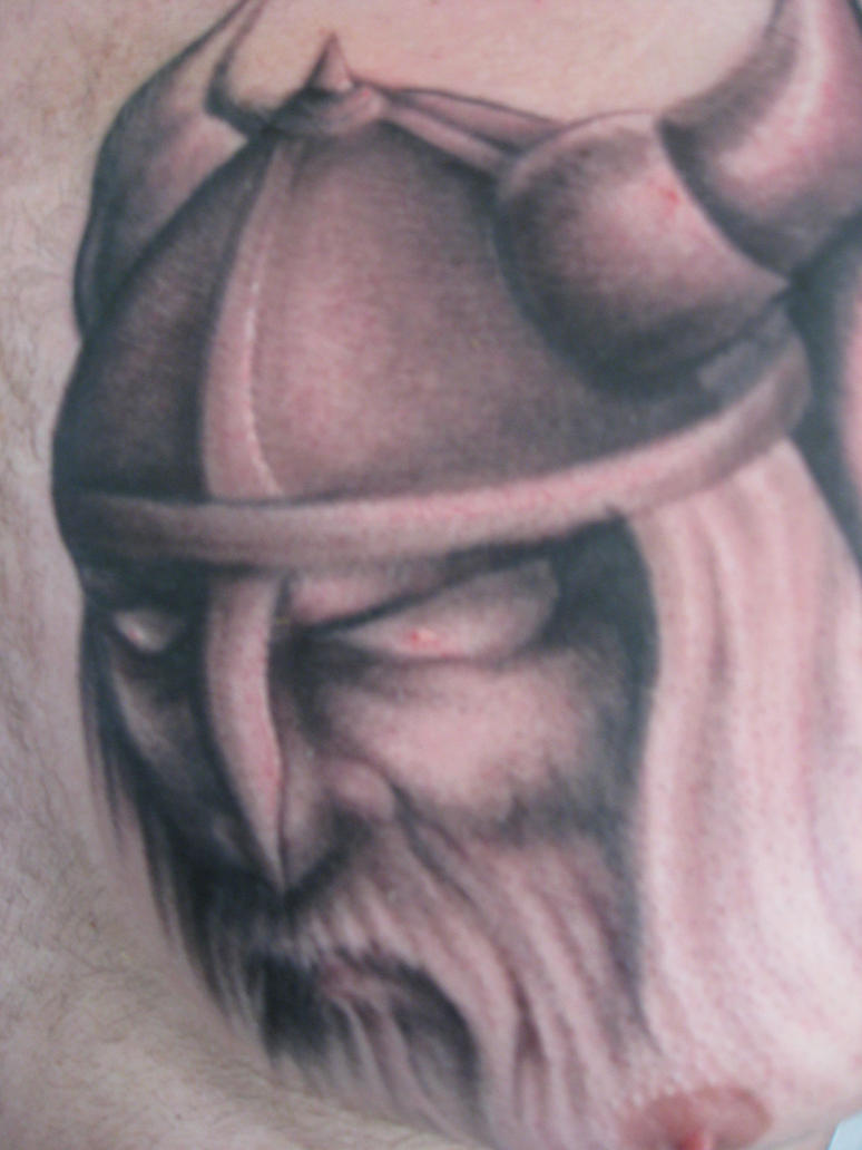 Freehand viking tattoo by