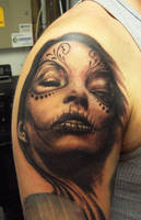 Day of the Dead Tattoo by hatefulss