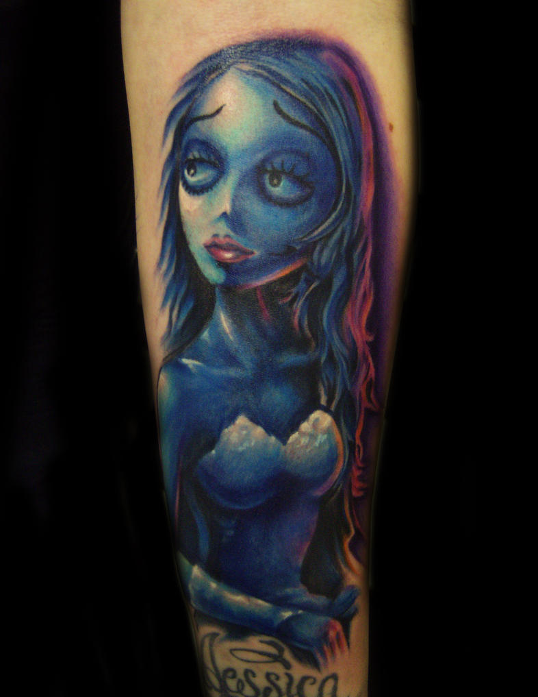 Corpse Bride Emily Tattoo by hatefulss