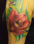 Red Orchid tattoo