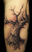 oak tree tattoo by hatefulss