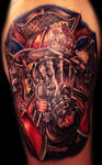 Fire fighter tattoo