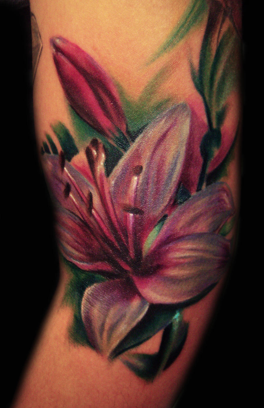 color lily tattoo by hatefulss on deviantart. Black Bedroom Furniture Sets. Home Design Ideas