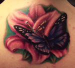 flower butterfly tattoo