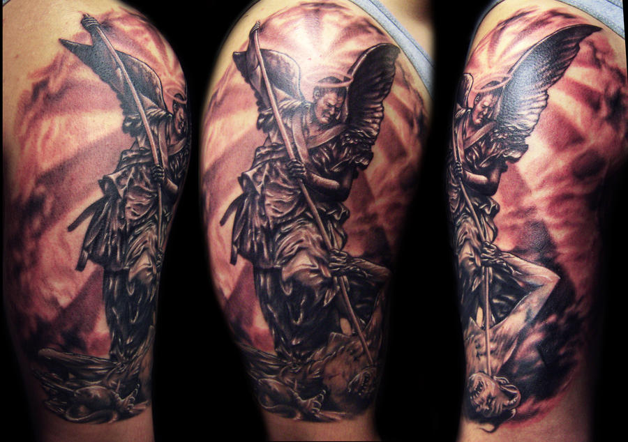 St. Michael Tattoo by hatefulss