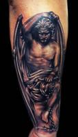 Lucifer statue by Carl Grace
