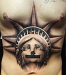 Statue of Liberty censored tat