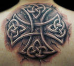 stone celtic cross by hatefulss
