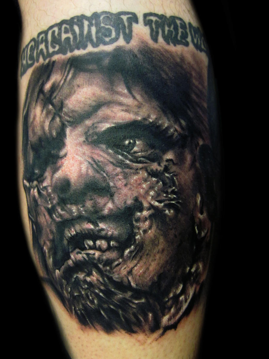 Leather Face Tattoo by