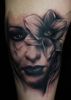 Freehand Woman Tattoo