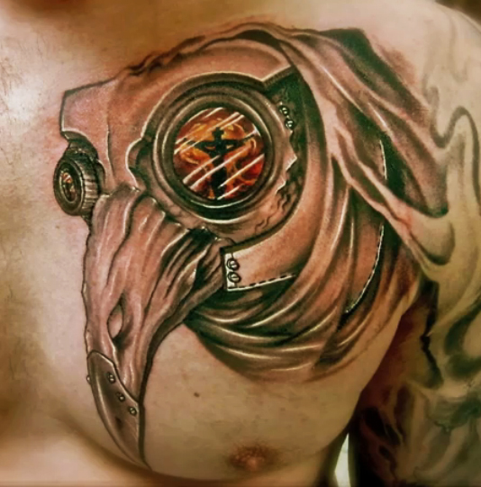 Plague doctor tattoo by hatefulss on deviantart for Plague doctor tattoo