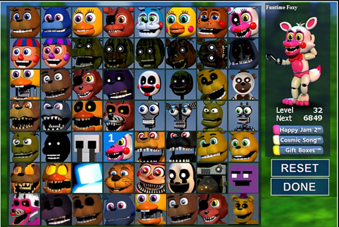 FNAF World update 3 with unwithered by firehammerbro on