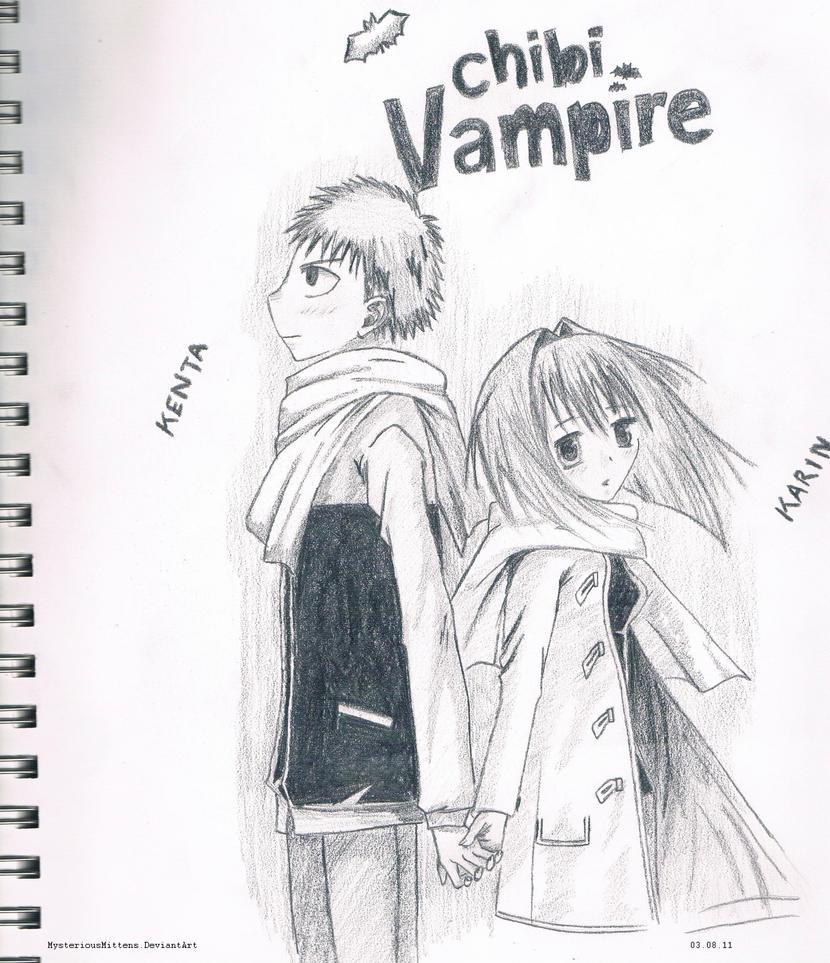 Chibi Vampire Kenta Karin By Xilent Strawberry