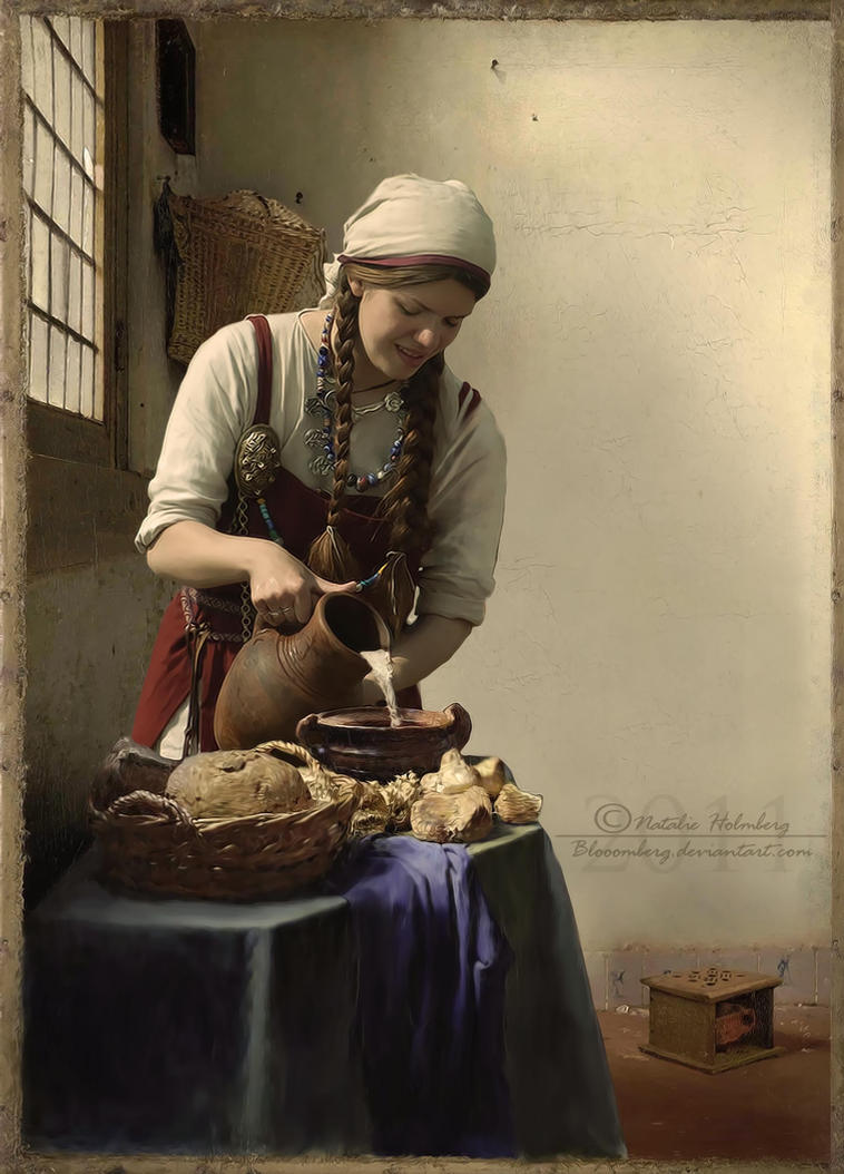 Woman Painting Kitchen