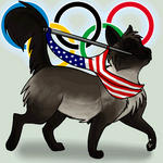 Wavin' Flag American Cat Icon by Mist-Howler