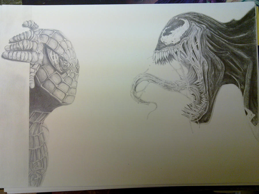 Venom Spiderman Drawing Spiderman Vs Venom by