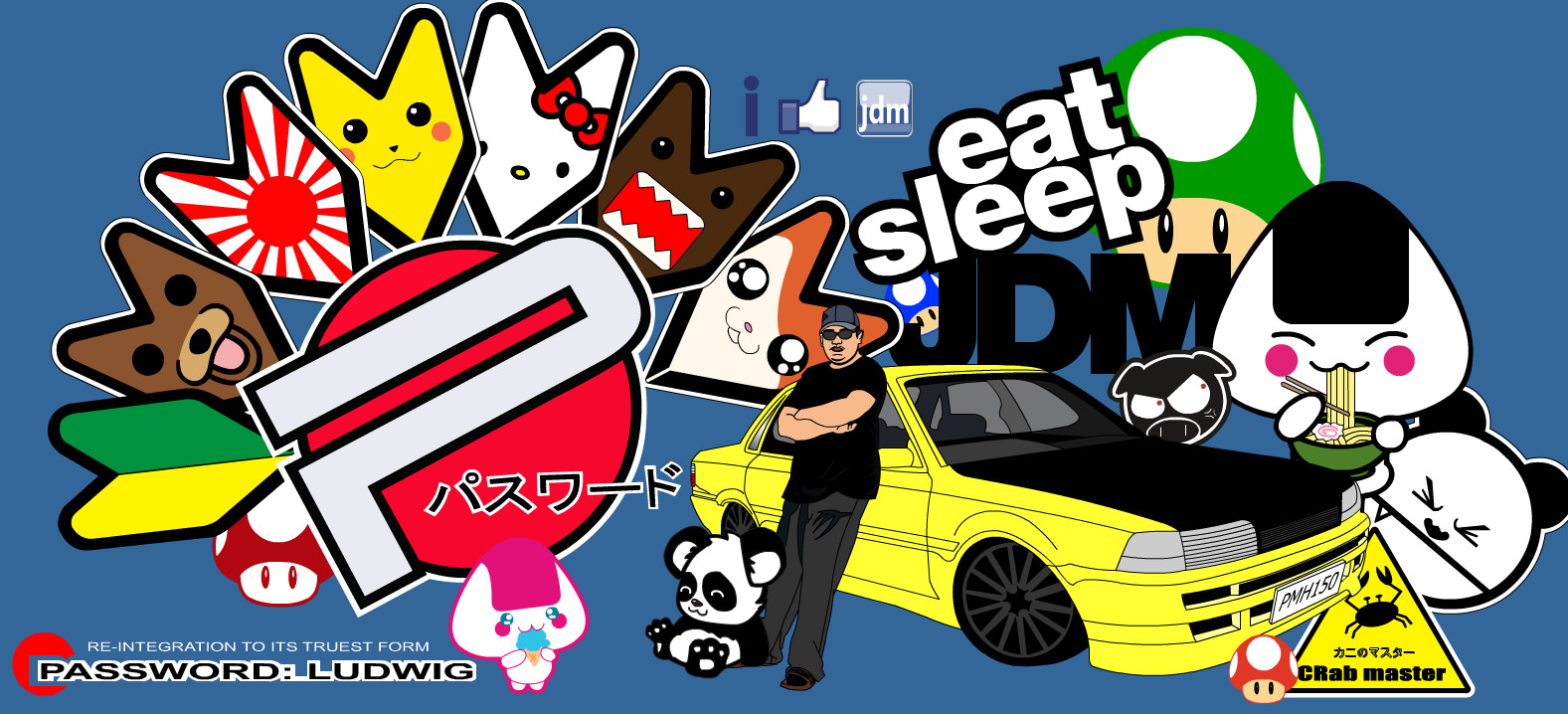 jdm sticker by michaelludwig