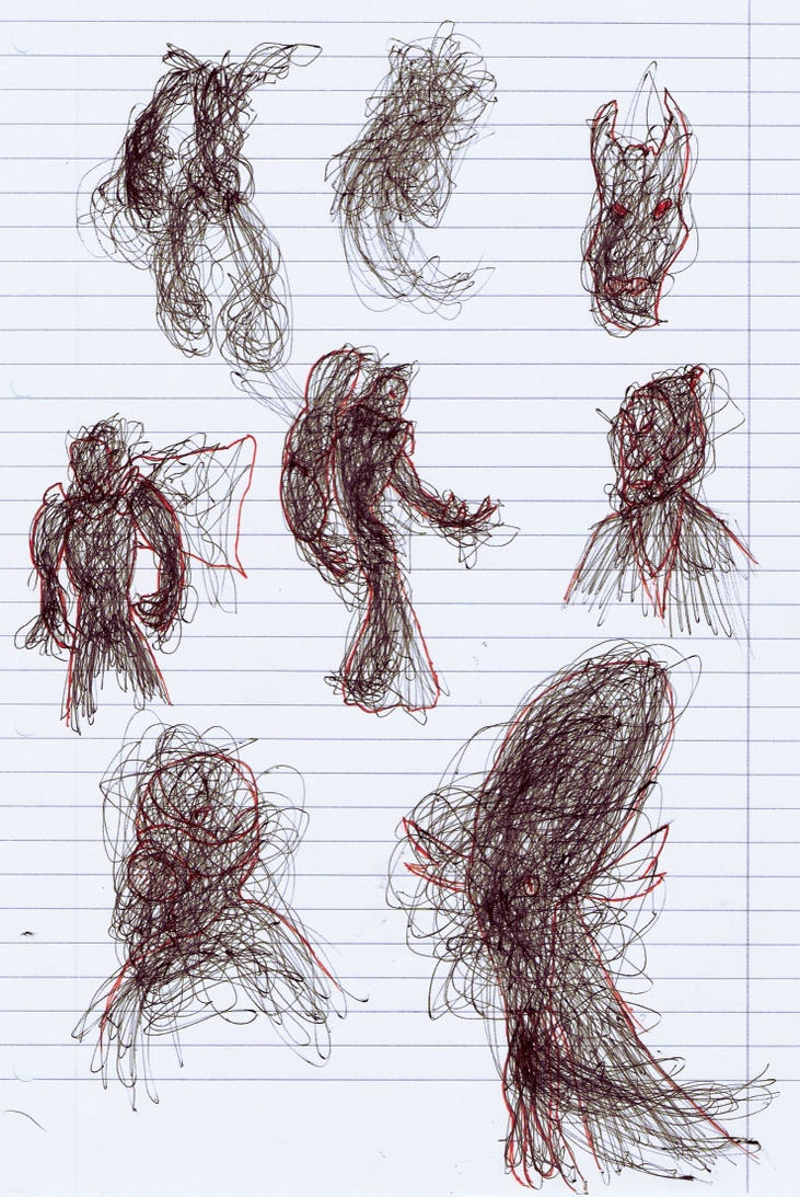 Drawing Scribble Method : Scribble technique examples by jtcgh on deviantart