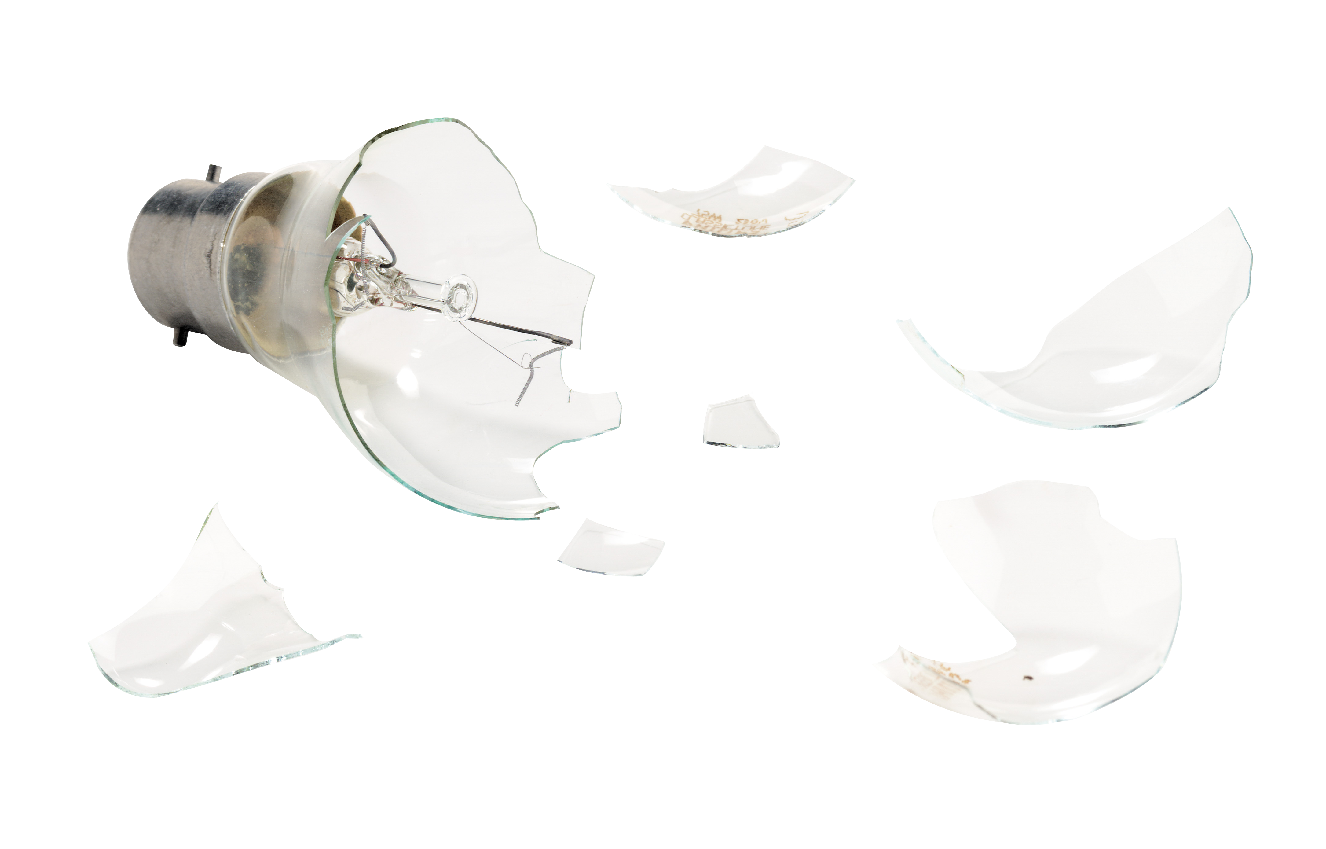 Smashed Lightbulb Art